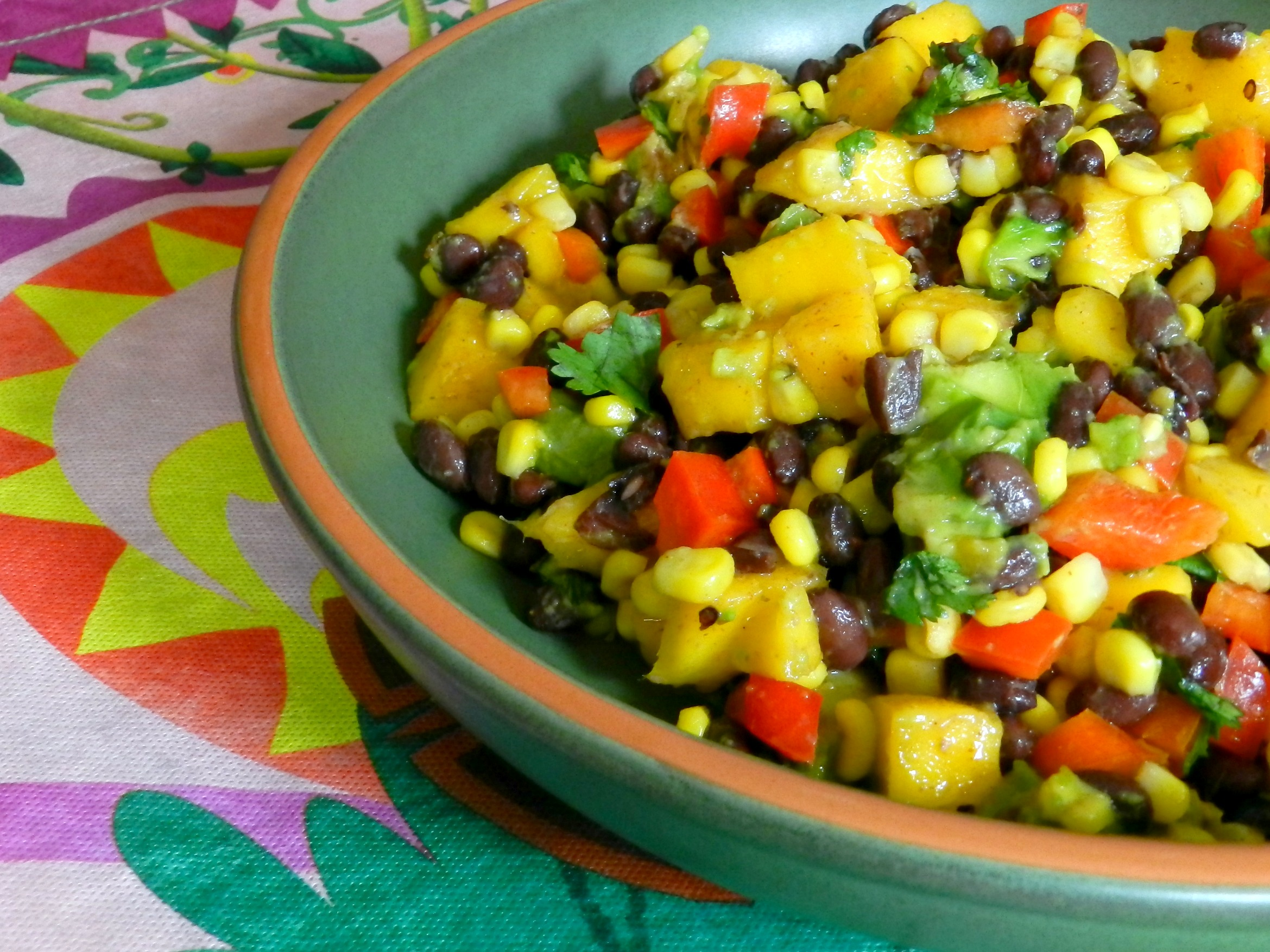 Black Bean, Corn and Mango Salad | Kids in the Sink