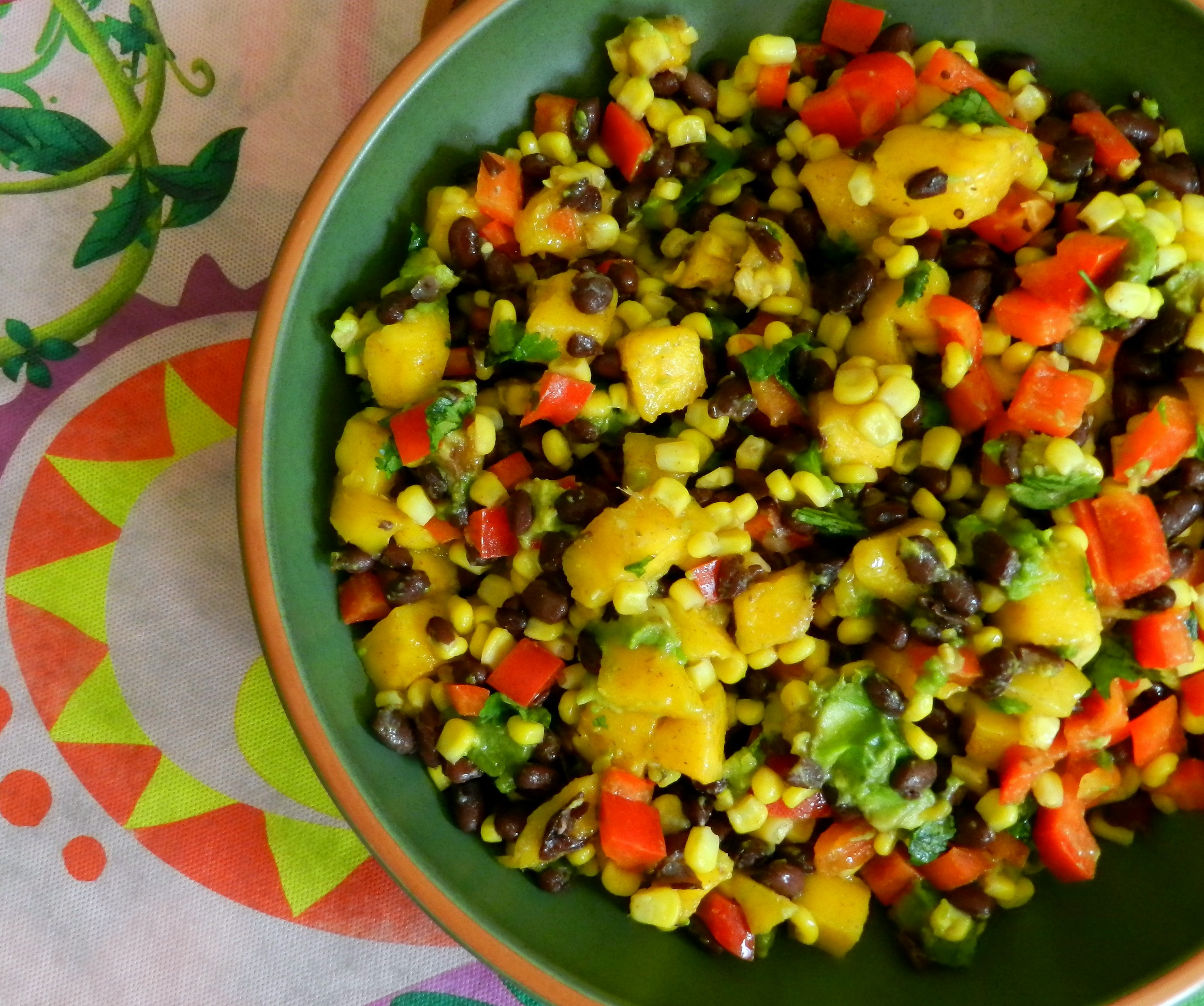 Black Bean, Corn and Mango Salad